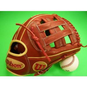 ウィルソンの人気シリーズ A2000 メジャーリーグでおなじみのウィルソン、小指部のMLBマークが目...