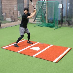 野球 学童用バッターマット FBM-1526 学童企画で両打席対応 フィールドフォース|baseballpower
