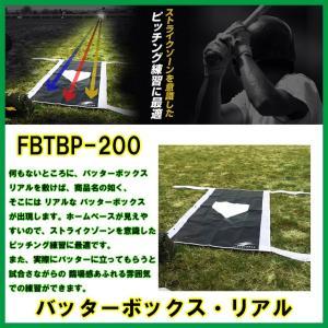 野球 バッターボックス リアル FBTBP−200 打撃練習 投球練習に|baseballpower