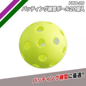 野球 バッティング練習ボール FBB-20(20個入り) 野球練習器具 baseballpower