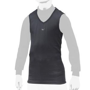 ミズノ限定 重ね着専用 ジュニア用 V首アンダーシャツ ブレスサーモ カラーネイビー baseballshop-road