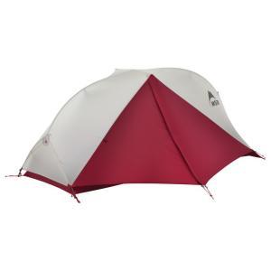 自立式のダブルウォールとしては最軽量クラスのテントです。 ハブとスイベルで連結した一体型のポールによ...