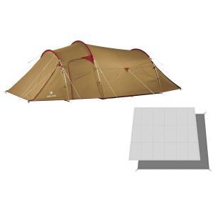シンプルな構造で設営しやすい テントと専用のフロアマット、フロアシートのセットです。 テントはインナ...