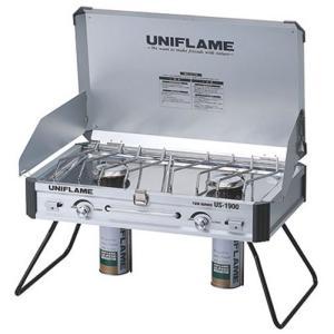 ユニフレーム UNIFLAME US-1900 ツインバーナー/アウトドア キャンプ ツーバーナーコンロ ガスストーブ|basecamp-jp