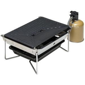 """分厚いステーキも美味しく焼ける""""鋳鉄""""グリドルの本格焼肉バーナー。 レギュレーター搭載により、低温時..."""