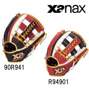 あすつく 数量限定 xanax ザナックス 野球用 軟式 グラブ オールラウンド用 逆とじ ザナパワー BRG-5819S xan19ss|baseman