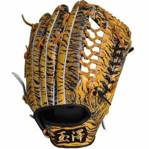 あすつく 限定 タマザワ×BM オリジナル 軟式 外野手用 グラブ 右投用 トラ柄 グラブ袋付き|baseman
