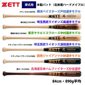 ZETT 硬式 木製バット 北米産ハードメイプル プロステイタスプレミアム BWT14984P zet19ss|baseman