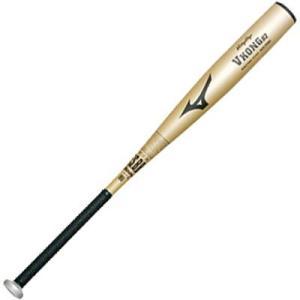 ミズノ ビクトリーステージ 軟式 野球用 金属バット ミドルバランス Vコング02 ゴールド|baseman