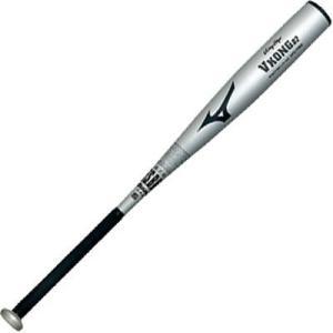 ミズノ ビクトリーステージ 軟式 野球用 金属バット ミドルバランス Vコング02 シルバー|baseman