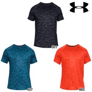 あすつく アンダーアーマー Tシャツ 半袖 丸首 吸汗 速乾 メッシュ UA MK-1ショートスリーブプリント 1327249 ua19ss|baseman