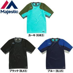 マジェスティック 半袖 Tシャツ Authentic Tech Fleece SS CrewNeck XM01-MAJ-0022 maj18ss|baseman