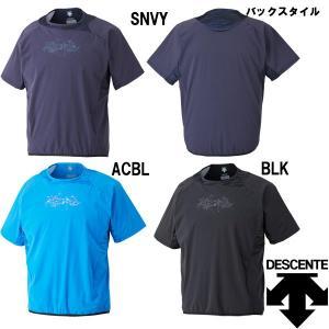 受注会限定 DESCENTE デサント ハイブリッドシャツ BBシャツ DBX-3701A des17ss baseman