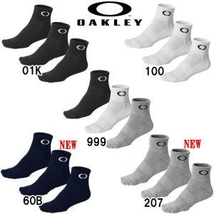あすつく オークリー OAKLEY 3足組 ソックス 靴下 3P SOCK 93238JP oak16ss|baseman