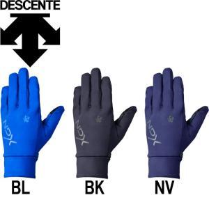 あすつく 限定 デサント 手袋 フィールドウォームグローブ 裏起毛 スマホ対応 3D設計 両手組 DBMMJD90 des18fw necbi18 desale18fw|baseman