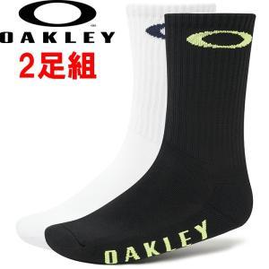 あすつく OAKLEY オークリー 2足組 ソックス 靴下 Socks Oakley Ellipse 2Pcs Pack 93322 oak19fw|baseman