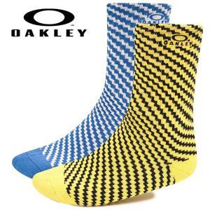 あすつく OAKLEY オークリー 2足組 ソックス 靴下 カジュアル Oakley Pattern Socks 2Pcs Pack 93338 oak19fw baseman
