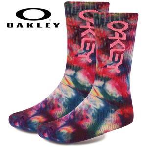 あすつく OAKLEY オークリー ソックス 靴下 カジュアル Oakley Tie Dye Socks 1Pack 93345 oak19fw|baseman