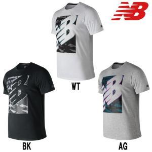 あすつく New balance ニューバランス Tシャツ トレーニング グラフィックヘザーテック AMT91082 nb19ss|baseman