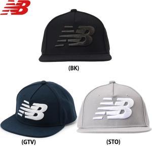 あすつく New balance ニューバランス ベースボールキャップ ロゴ刺繍 フラットバイザー NBキャップ JACL6220 nb19ss|baseman