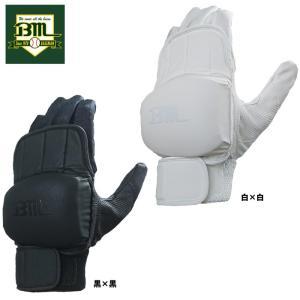 あすつく ベースマンオリジナル プロテクター バッティング手袋 片手用 厚盛 保護パッド付き BM-PROTECTOR-BG|baseman