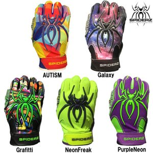 あすつく スパイダーズ 野球 バッティング手袋 バッティンググローブ 両手組 ハイブリッド SPIDERZ HYBRID spi18fw
