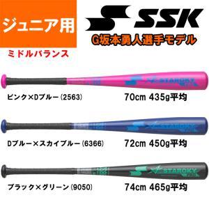 あすつく 展示会限定 SSK 少年野球 ジュニア 金属バット 坂本モデル ミドルバランス スタルキーPRO SBB5016 ssk19ss|baseman