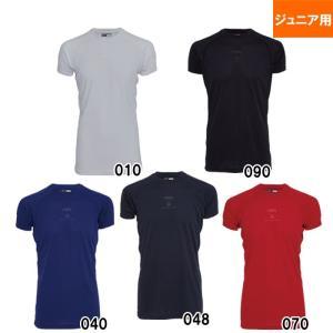 美津和タイガー ジュニア 少年野球 アンダーシャツ ミドルフィット 半袖 丸首 UWRJDYS-004 mit18ss wear|baseman
