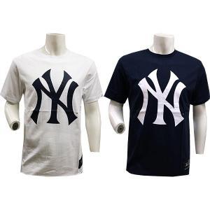 あすつく マジェスティック ニューヨーク ヤンキース ロゴ Tシャツ A1NYK6033|baseman