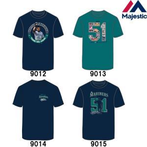あすつく マジェスティック イチロー引退記念 Tシャツ マリナーズ 51 綿100% SEA MLB MM01-SM-901 maj19ss|baseman