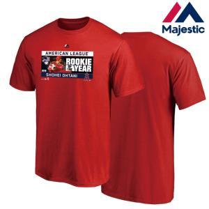 あすつく マジェスティック 大谷翔平 新人王 Tシャツ ROOKIE OF THE YEAR Tee エンゼルス MM08-LA-8019 maj19ss|baseman