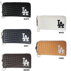 5c7ef2778dff あすつく イーカム MLB 長財布 ロサンゼルス・ドジャース 編み込みデザイン LA-WLT05