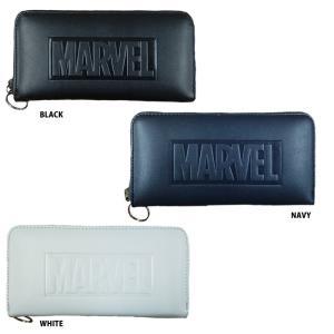 あすつく イーカム MARVEL 長財布 マーベル 合成皮革 ロゴ型押し MV-WLT03|baseman