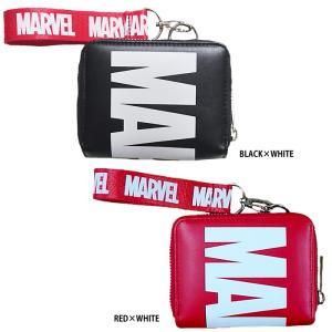 あすつく イーカム MARVEL 二つ折り財布 マーベル チャーム付き 合成皮革 MV-WLT19|baseman