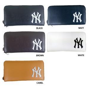 b440f976ca5f あすつく イーカム MLB 長財布 ニューヨークヤンキース YK-1406P-01