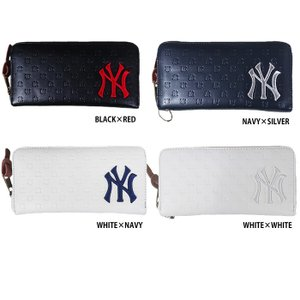 イーカム MLB 長財布 ニューヨークヤンキース ロゴ型押し YK-1406P-02|baseman