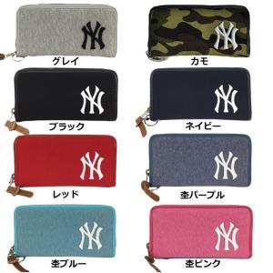 あすつく イーカム MLB 長財布 ニューヨークヤンキース 杢調 YK-WLT01|baseman