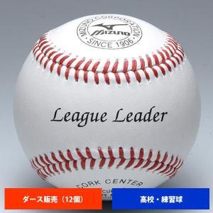 ミズノ 高校 硬式練習球 (1ダース売り) 1BJBH11400 ball16