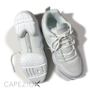 Capezio(カペジオ)ダンススニーカーDS11 FIERCE DANSNEAKER・WHITE/白(子供・女性・男性用)|basement-tapdance