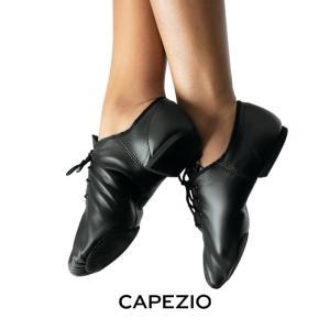 CAPEZIO(カペジオ)ジャズジューズEJ1 JazzOxford(ジャズオックスフォード)・BLK(黒)|basement-tapdance