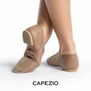 CAPEZIO(カペジオ)ジャズジューズEJ2 JAZZ SLIP ON(ジャズスリッポン)・CAR(ベージュ)|basement-tapdance