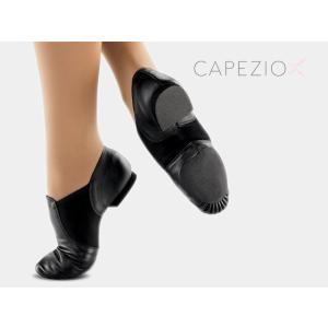 CAPEZIO(カペジオ)ジャズジューズEJ2 JAZZ SLIP ON(ジャズスリッポン)・BLK(黒)|basement-tapdance