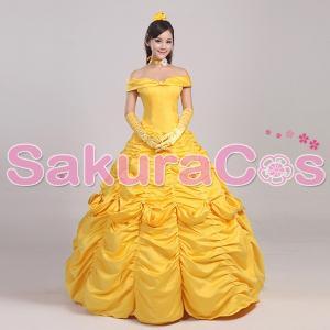 ディズニー映画 美女と野獣 ベル ドレス コスプレ衣装|basestyle
