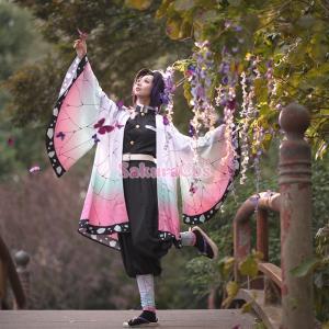 【即納品】鬼滅の刃 胡蝶しのぶ コスプレ衣装 ハロウィン 変装 仮装 コスチューム cosplay イベント クリスマス