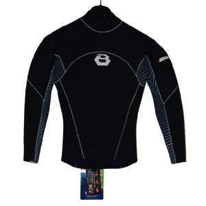即納 ロング タッパ BEWET PLAYER L/S TAPPER BLACK/BLUE STREAM-WHT ウエットスーツ 長袖タッパ basic-surf