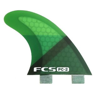 FCS PC-2 GREEN SLICE TRI FIN SET FCS FIN サーフィン フィン|basic-surf