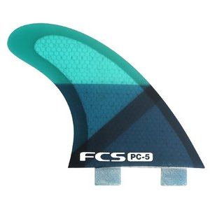 FCS FIN PC-5 BLUE SLICE TRI FIN SET  FCS フィン サーフィン フィン|basic-surf