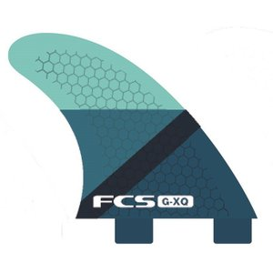 FCS FIN GX-Q BLUE SLICE REAR FINSET  FCS クアッド用リア フィン |basic-surf
