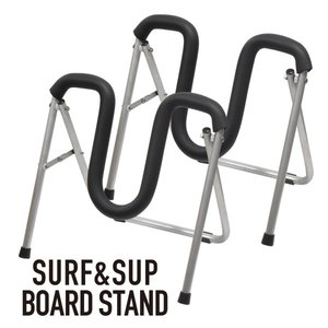 ボードスタンド BOARD STAND サーフボードスタンド 折りたたみアルミスタンド ワックスアップ サーフボードリペア フィン取り付 サーフボード スタンド|basic-surf