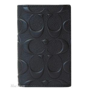 コーチ カードケース COACH メンズ 名刺入れ シグネチャー アウトレット ブラック F12023 BLK|basilshop
